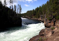 Yellowstone River above Lower Falls