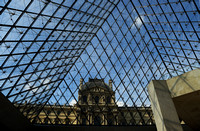 Glass Pyramid, Louvre- designed by I.M. Pei