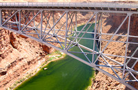 Bridge and Colorado River Gorge