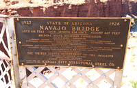 Navajo Bridge foundation plaque