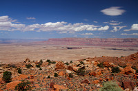View from Highway 89 over Marble Canyon towards Vermillion Cliffs