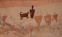 Second pictograph panel with dog.