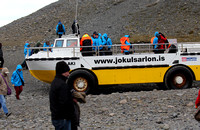 Duck boat at Jokulsarlon, S. Iceland