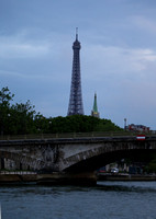 Pont des Invalides and Eiffel Tower