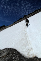 Snowfield traverse on First Burroughs Mountain
