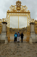 At the Sun Gate in the rain, before Versailles