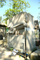 Oscar Wilde's tomb, memorial by Jacob Epstein, Père Lachaise