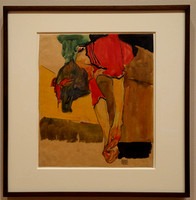 Girl putting on Shoe (Schiele), MoMA, NYC
