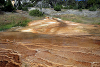 Travertine wash, Mammoth Hot Springs