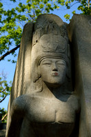 Lipstick on sphinx' lips, Oscar Wilde's tomb, Père Lachaise Cemetery