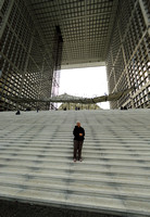 On steps of La Grande Arche, La Défense