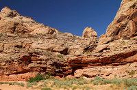 Canyon wall sandstone formations