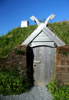 Doorway, reconstructed Viking sod longhouse, L'Anse aux Meadows