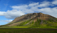 Hvolsfjoll mountain, west Iceland